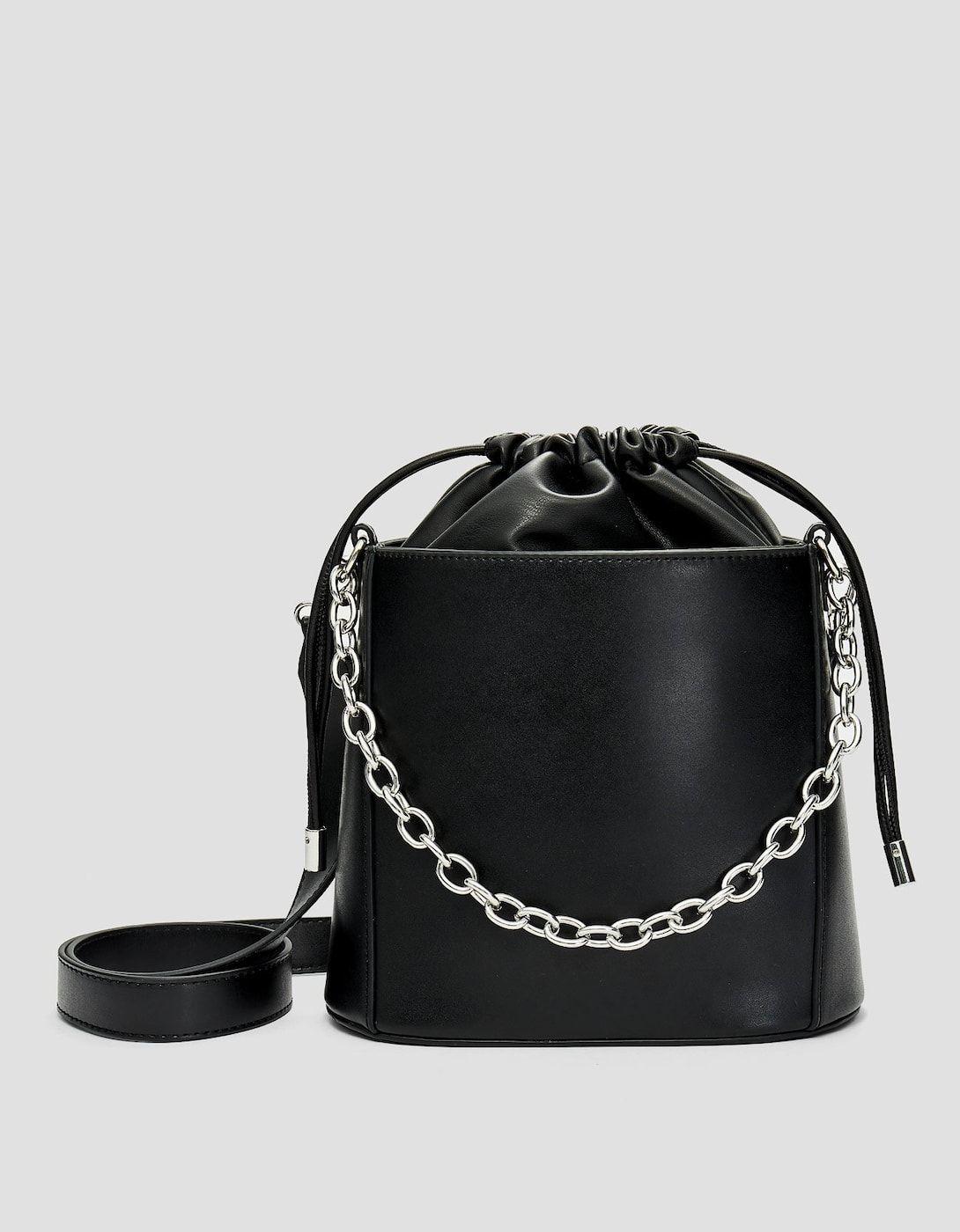 fd0b115163a8c Zincirli askılı bucket çanta - Çanta - Sırt Çantası | Stradivarius Türkiye