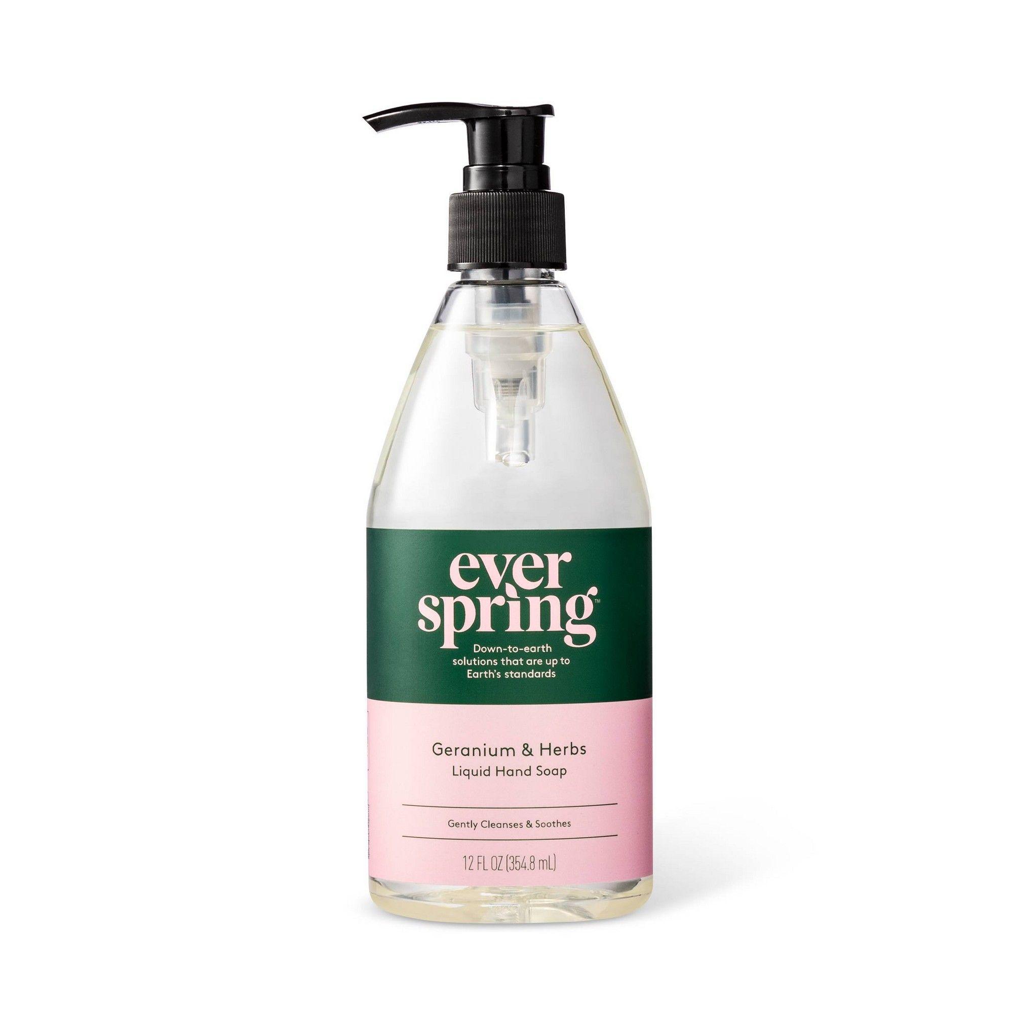 Geranium Herbs Liquid Hand Soap 12 Fl Oz Everspring Liquid