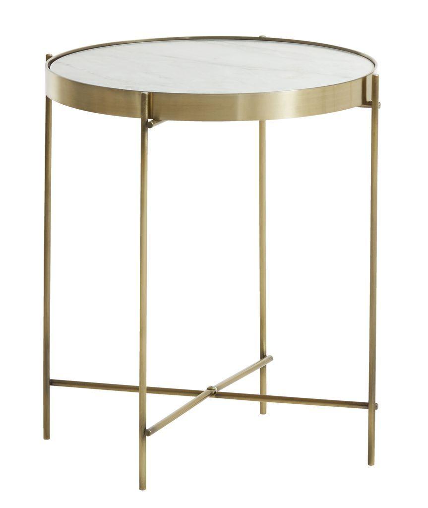Jysk Side Table.Masichka Ommestrup O38sm Mramor Zlato Jysk Table