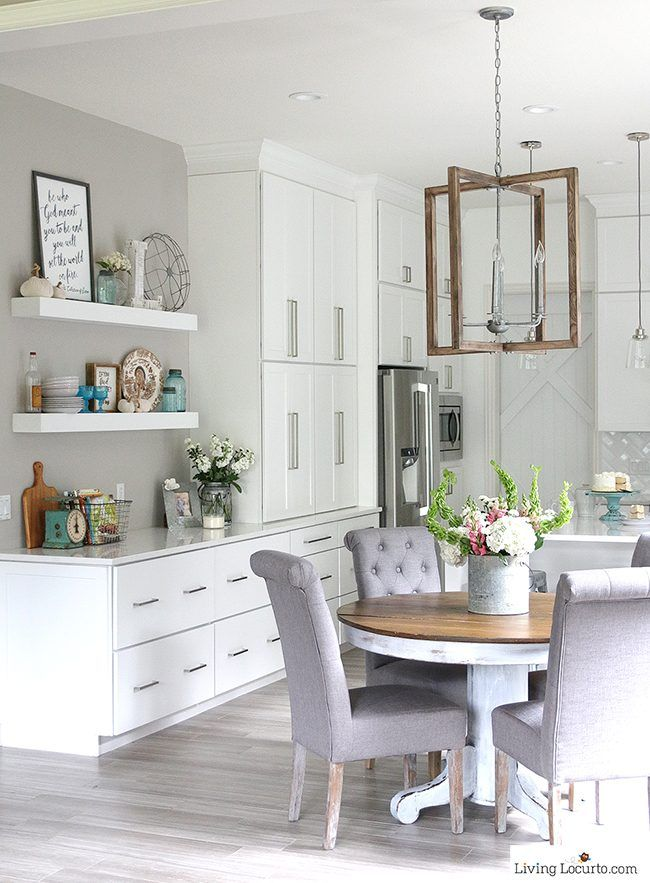White kitchen modern farmhouse from living locurto