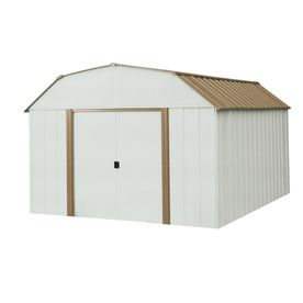 Arrow 10 Ft X 14 Ft Galvanized Steel Storage Shed Actuals 10 27 Ft X 13 56 Ft At Lowes 499 Pickup Steel Sheds