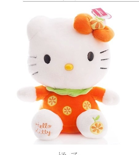 44.00$  Buy here - http://alibfu.worldwells.pw/go.php?t=1770111600 - NEW STuffed animal orange fruit kt hello kitty  about 38cm plush toy 15 inch soft Toy birthday gift wt9450 44.00$