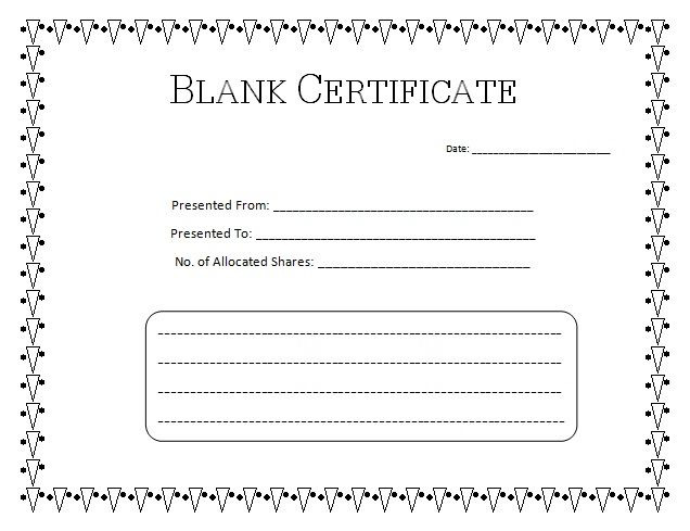 Certificate Templates Blank Certificate Of Completion Template Word