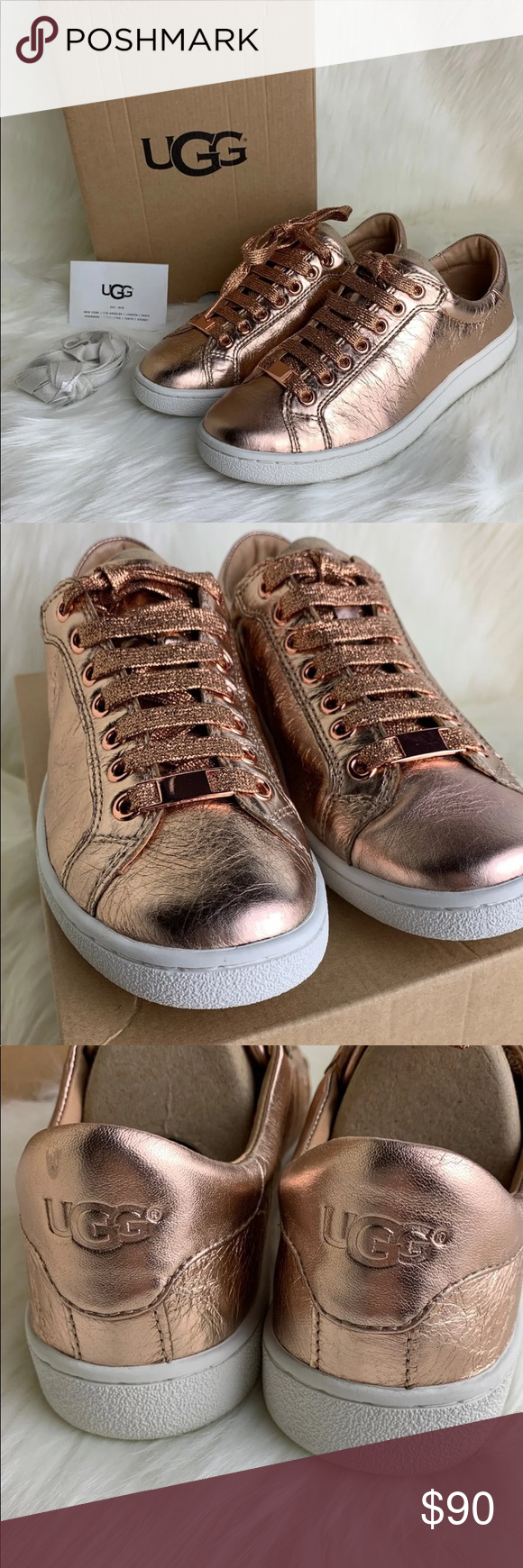 New UGG MILO METALLIC Sneakers 7