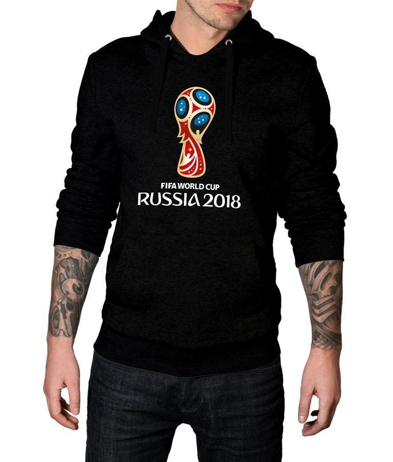 fa3a88049b9d Get The Most  Trendy and Coolest  FIFA  2018  WorldCup  Russia  Logo  Pullover  Hoodie in Different Colors Now Available For Sale at A very   LowestPrice With ...