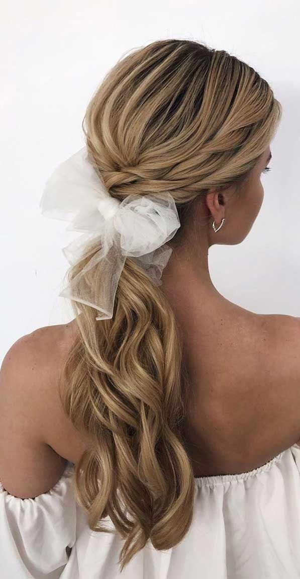 #HairstyleMagazine in 2020   Wedding ponytail, Hair styles ...