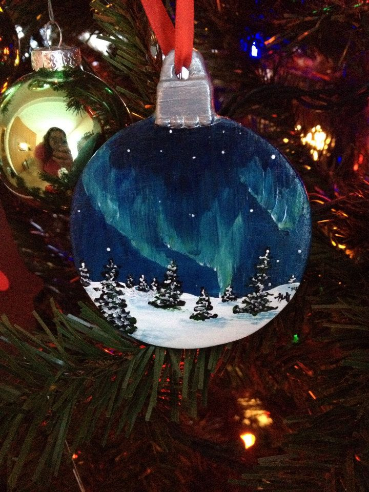 Northern Lights Ornaments - pinned by pin4etsy.com - Northern Lights Ornaments - Pinned By Pin4etsy.com My Hand Painted