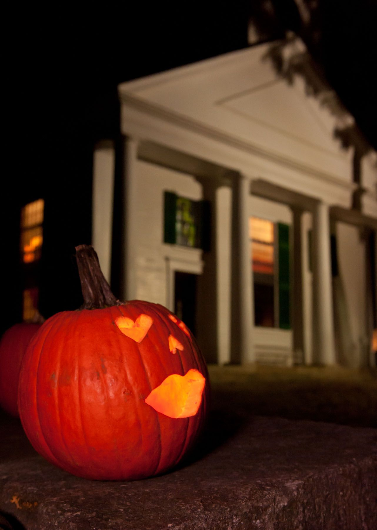 Osv Center Meetinghouse Decorated With Jack O Lanterns