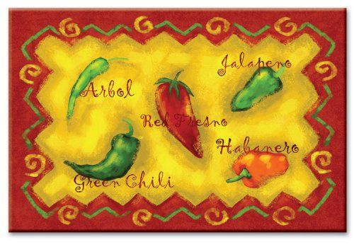 CounterArt Chili Peppers 8 by 12-Inch Glass Cutting Board CounterArt ...