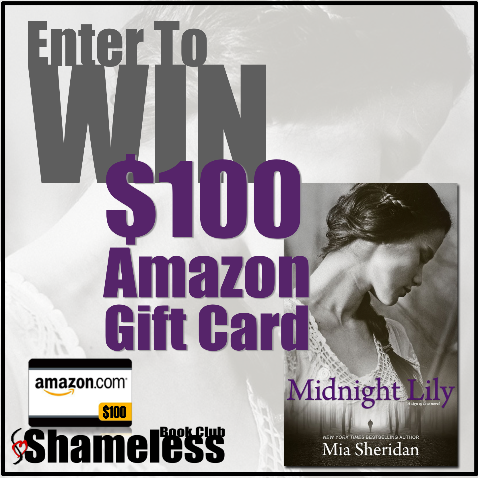 Enter to WIN a $100 Gift Card from Mia Sheridan to celebrate the release of Midnight Lily!