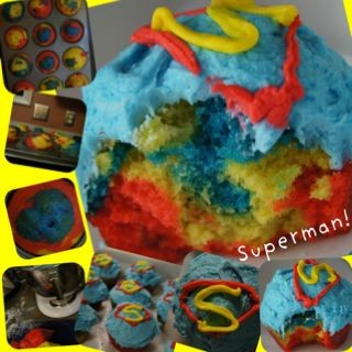 The Superman cupcakes I made for my best friend a few weeks ago. I was so proud of these things! <3 They look amazing and tasted so good!