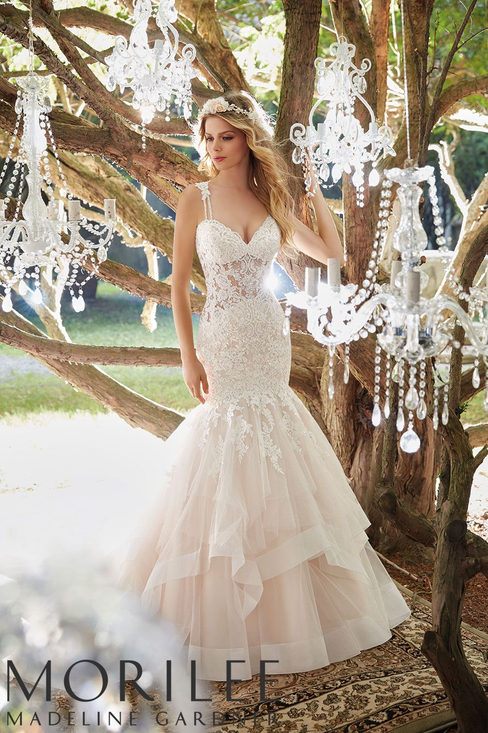 Glamorous Mermaid Wedding Gown Featuring Crystal Beaded Embroidered Lace Appliques And A Circul Perfect Wedding Dress Wedding Dresses Strapless Bridal Dresses [ 2630 x 1834 Pixel ]