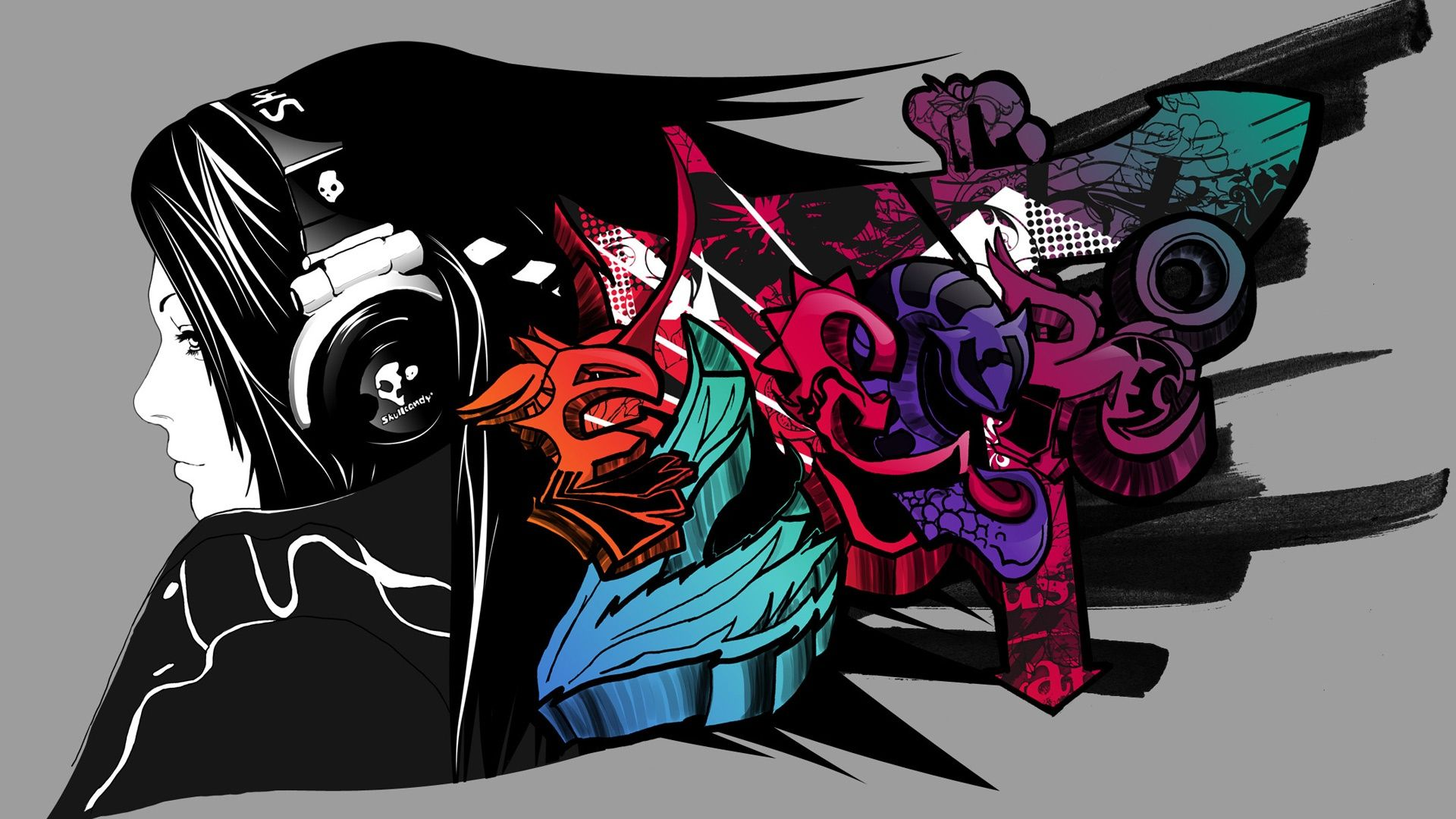 Graffiti Art Music Wallpaper High Definition For Desktop
