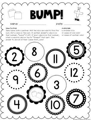 Dice, Dominoes, and Playing Cards {Math Workstation Freebies ...