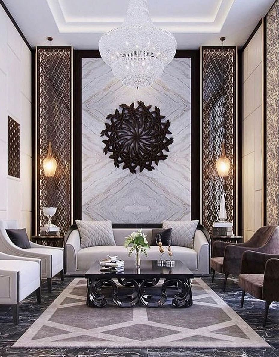 40 Decor Ideas To Look For Those Who Want To Renovate The Living Room Luxury Living Room Modern Style Living Room Decor Chandelier In Living Room
