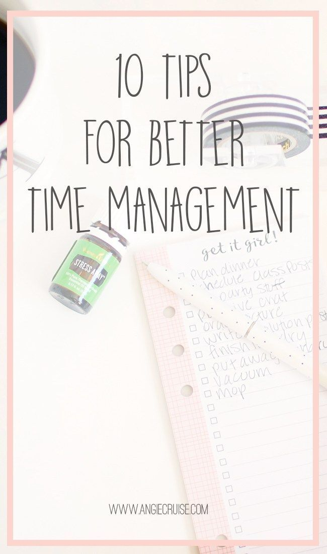 Tips for Better Time Management The last few months, I've really been struggling with my time management. Blog posts aren't getting published, deadlines are barely being met, and I realize at 6 pm that I didn't pull out anything for dinner. This list of 10 time management tips is for me as much as it is for you!The last few months, I've really been strug...