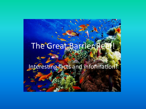 Bright, colourful powerpoint display all about The Great