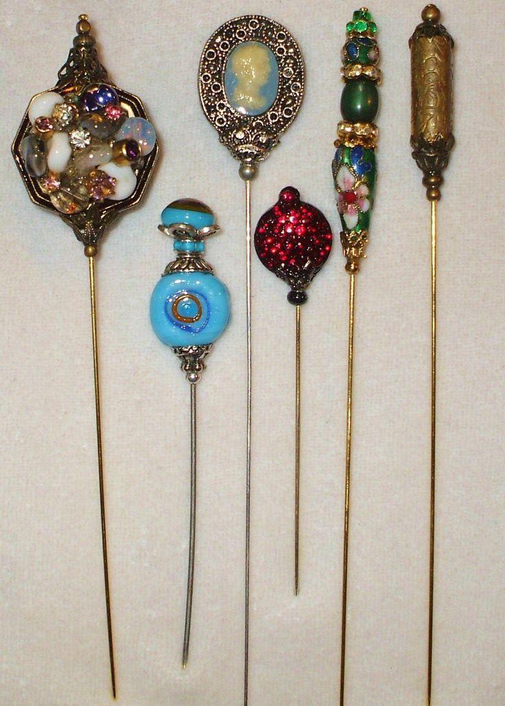 Antique Hat Pins Jewelry Hatpin Stickpin Jabot Hat Pins Victorian Hats Hats