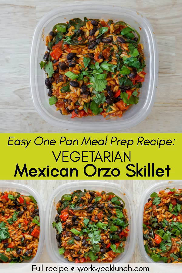 One Pan Mexican Orzo Skillet