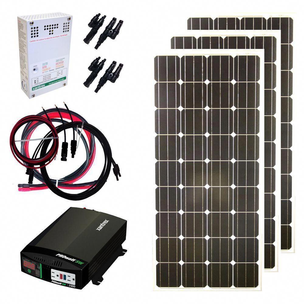 Grape Solar 480 Watt Off Grid Solar Panel Kit Gs 480 Kit The Home Depot Solarpanels Solarenergy S Solar Energy Panels Solar Panel Kits Off Grid Solar Panels