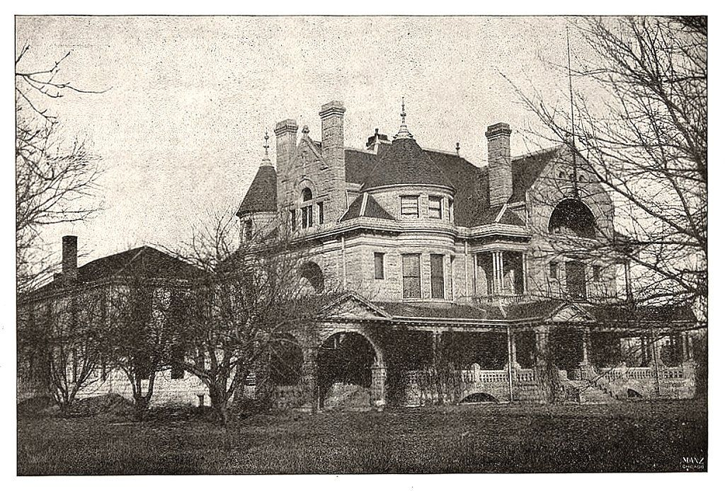 Robert E Lawrence Residence Wichita Ks With Images Grand Homes Victorian Photos Half Moon Window