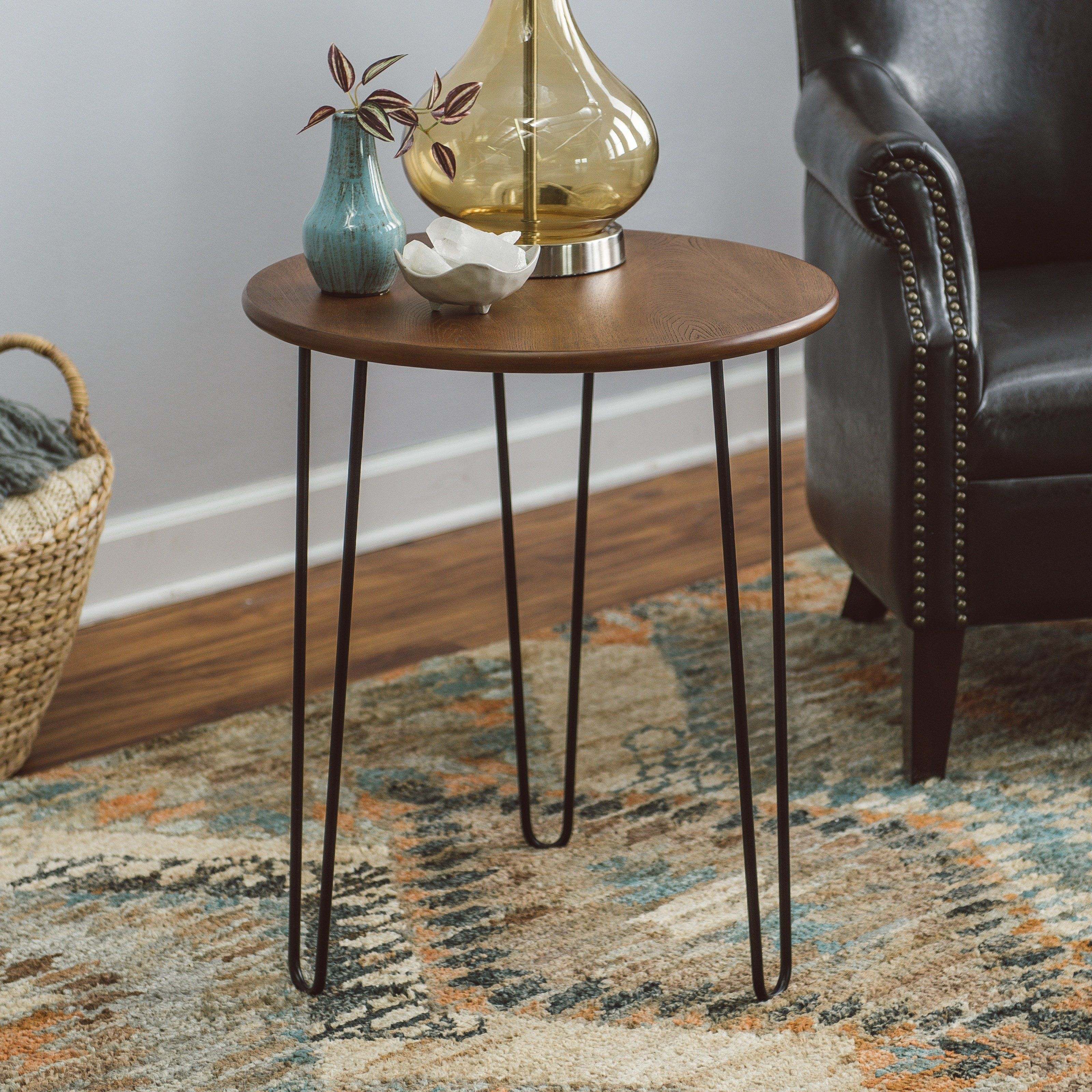 belham living jacobson end table with hairpin legs  mid