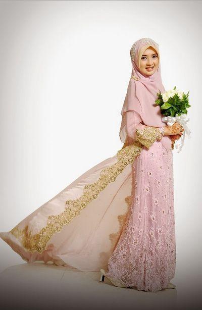 Contoh Foto Gaun Pengantin Muslimah Modern Simple Dan Anggun