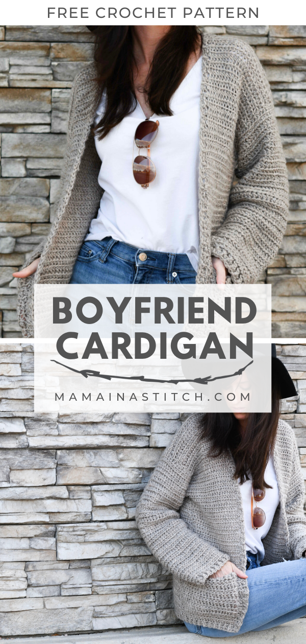 Photo of Easy Crochet Sweater Pattern – Boyfriend Cardigan