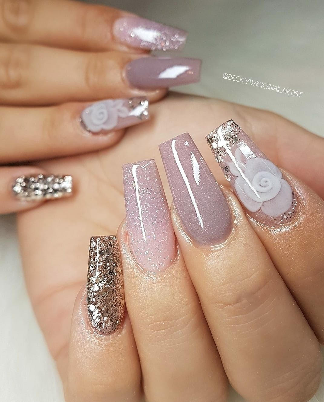 Gorgeous Nails Love The Glitter Gorgeous Nails Cute Acrylic Nails Coffin Nails Designs
