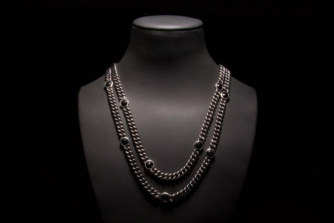 COLAR   Prata com onix. NECKLACE   Silver with onyx. CL0132 #MarcoCruz #Joalheiro #Jewelry #Joias #Portugal #Silver #Jewels #Fashion