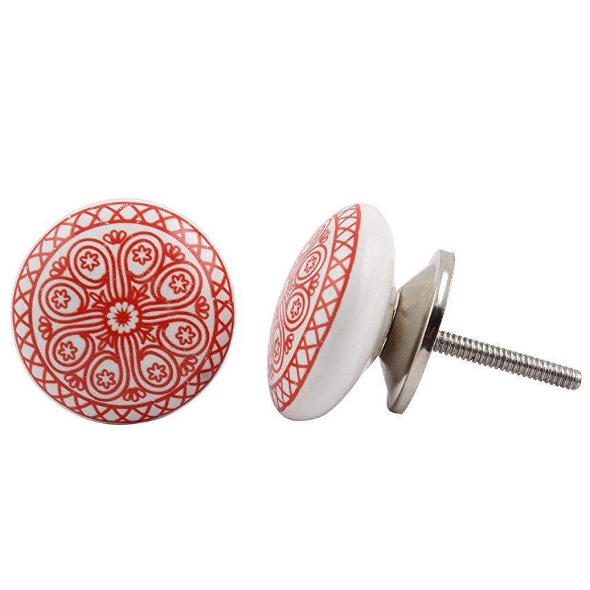 Rueda de cerámica y metal hecha a mano Puerta Pomos y Tiradores para ...