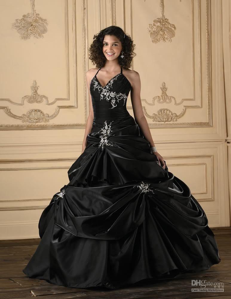 Sexy black wedding dresses