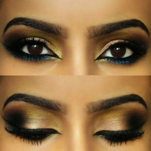 Arabian Eye Makeup Tutorial For Brown Eyes Arabic Eye Makeup
