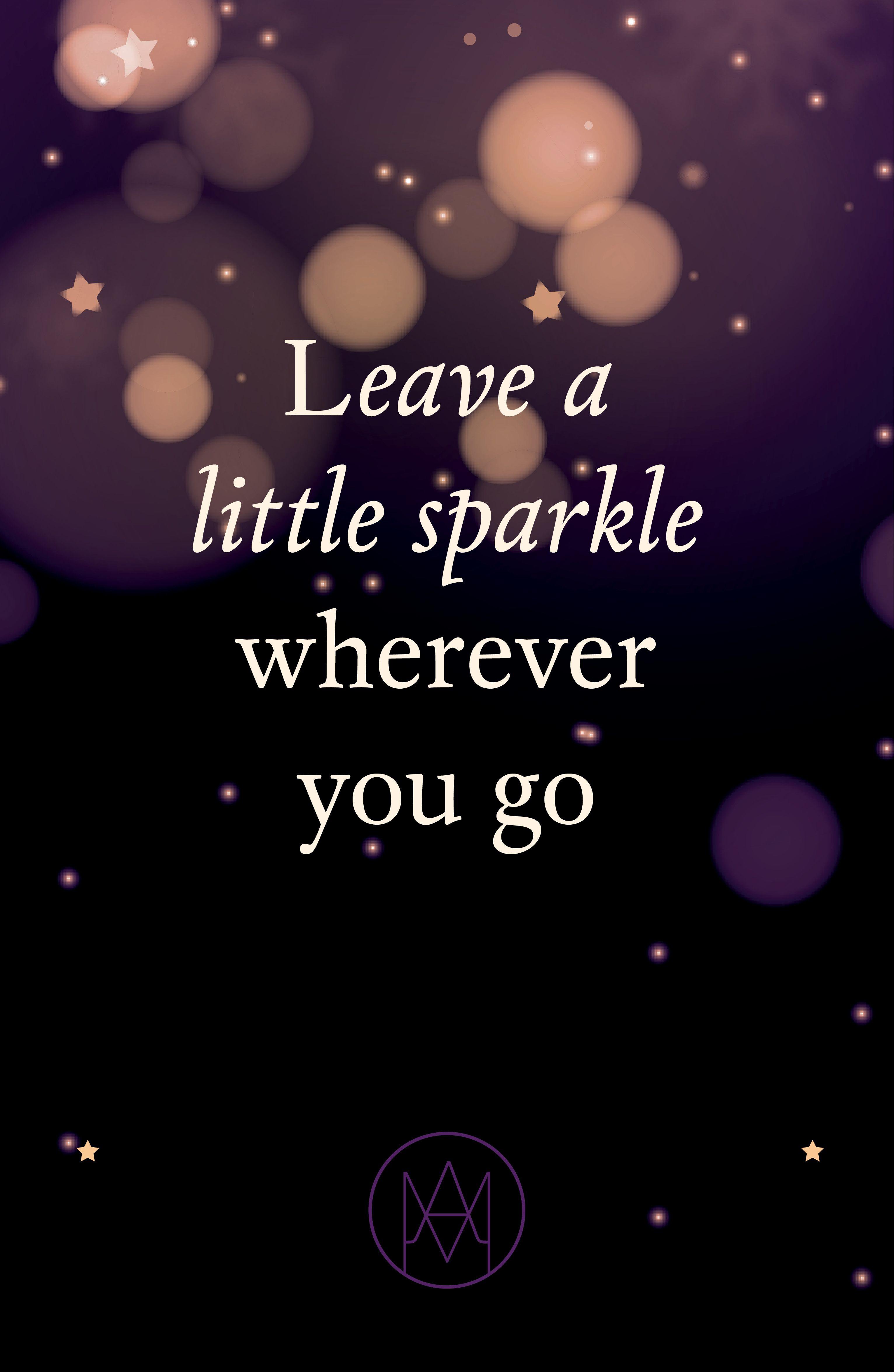 Merry Christmas Leave A Little Sparkle Wherever You Go