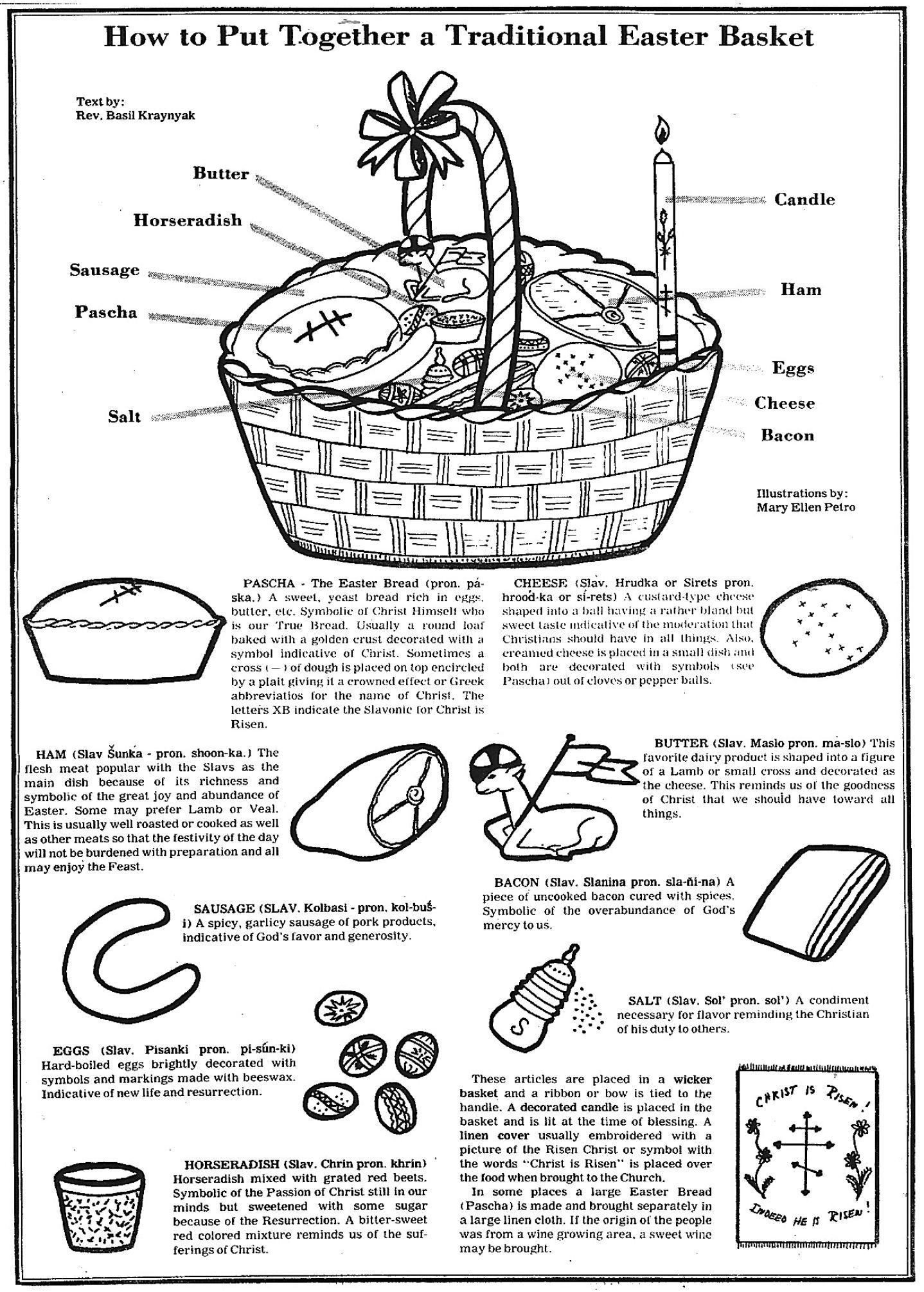 Traditional Easter Basket For Blessing