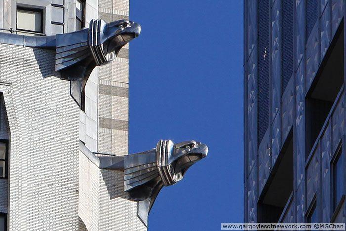 Modern Eagle Gargoyle At Chrysler Building Geographically The