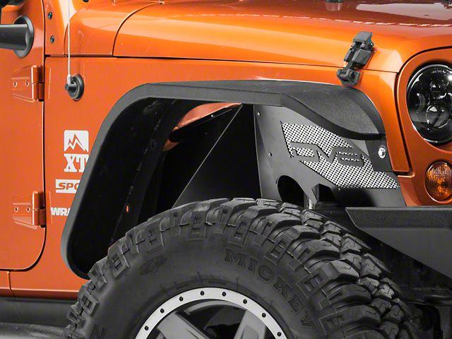 Dv8 Off Road Aluminum Inner Fender Front Black 07 17 Wrangler