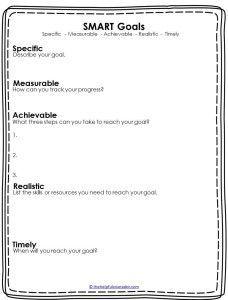 Back To School Smart Goals For School Counselors Smart Goals Worksheet Smart Goals Template Goals Worksheet
