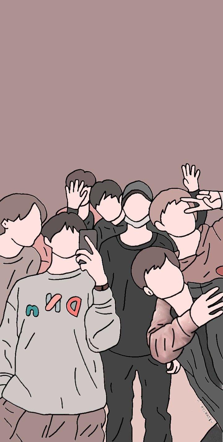 Bts Wallpaper Cartoon