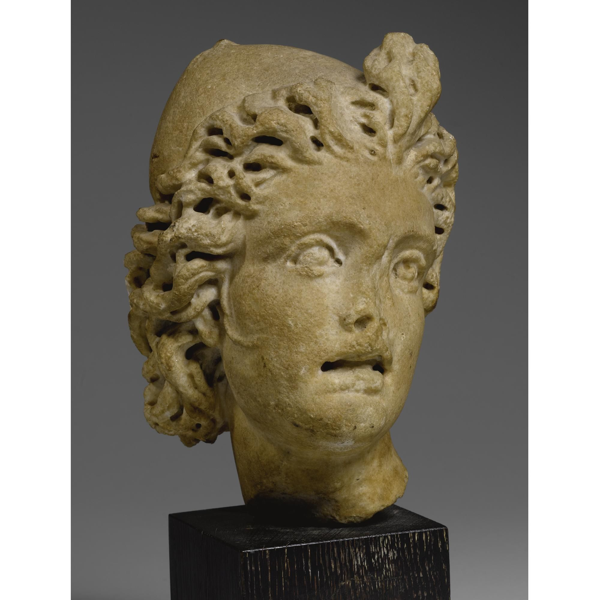 A Marble Relief Head Of A Dioskouros Roman Imperial Circa A D 230 260 Carved In High Relief From A Sarcophagus Probably Depicting Lion Sculpture Art Statue