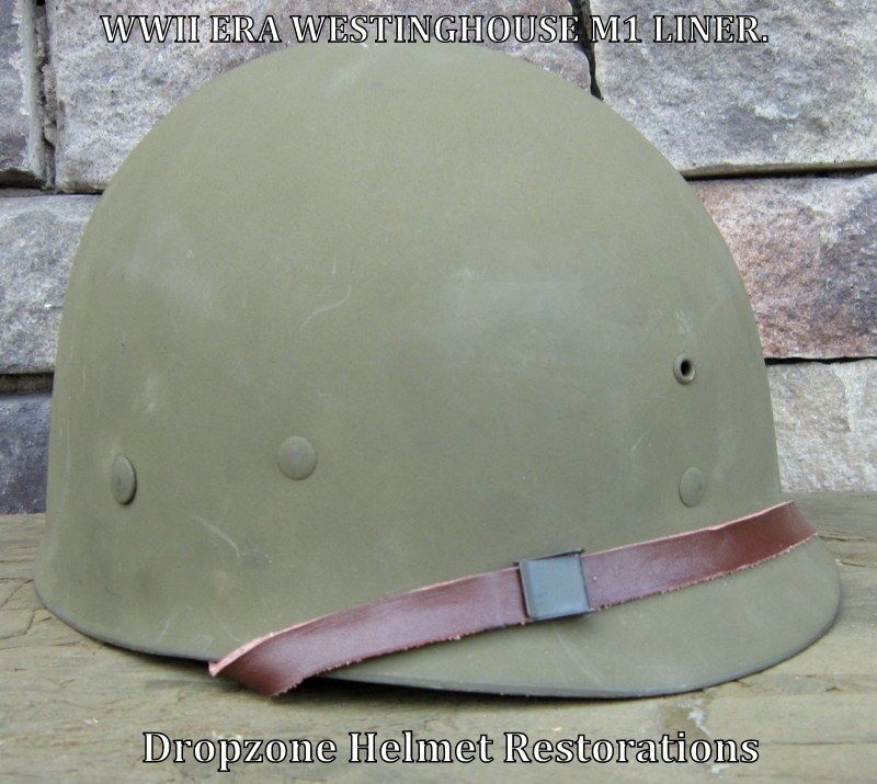 WWII M1 Westinghouse Helmet Liner  (Complete) | WWII M2 DBale