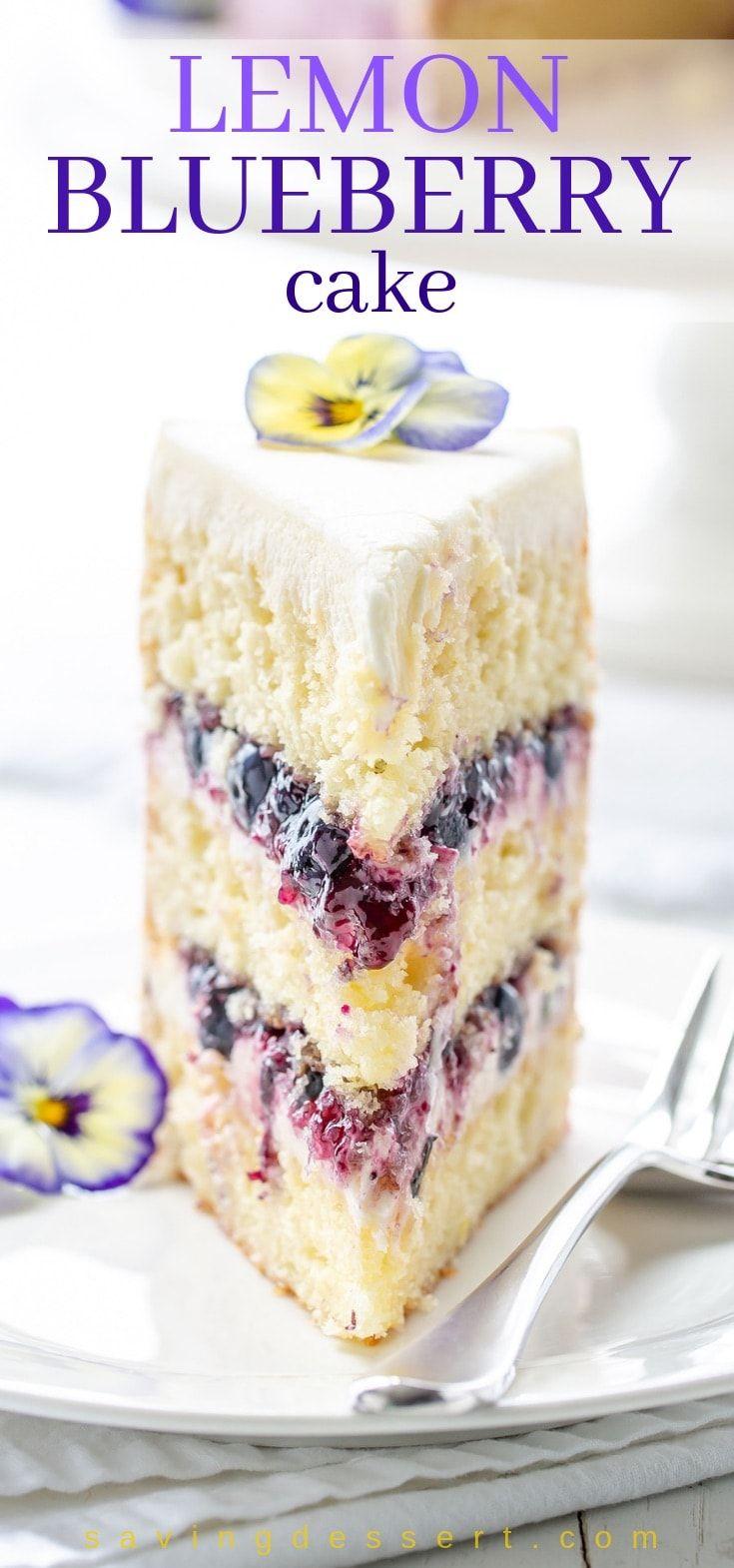 Lemon Blueberry Cake Recipe Blueberry Lemon Cake Moist Lemon Cake Blueberry Cake