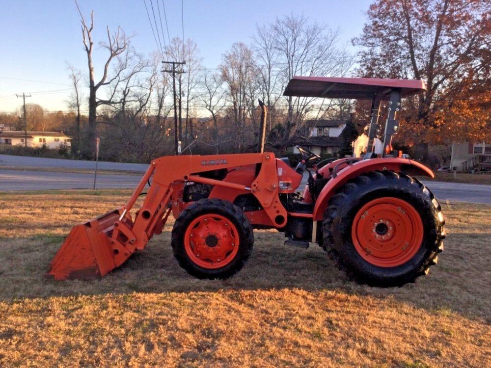 Kubota m 7040 4x4 diesel loader tractor 1422 hours