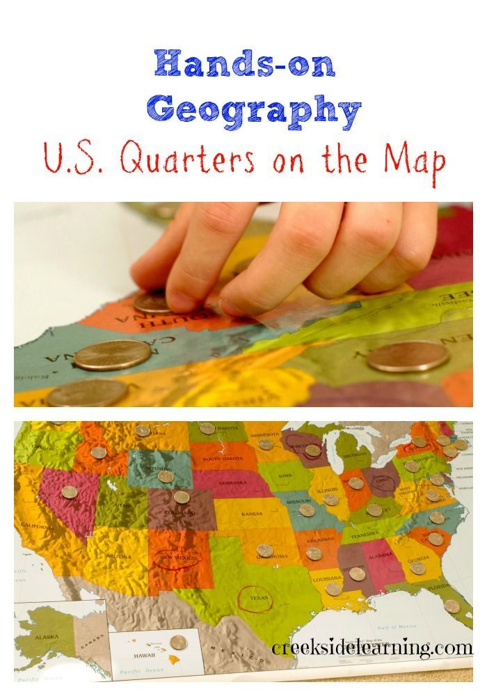 Hands On Geography Learning The US States With Quarters - Orange map us states