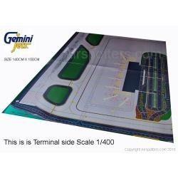 tapete de aeropuerto marca gemini jets escala 1:400 precioso