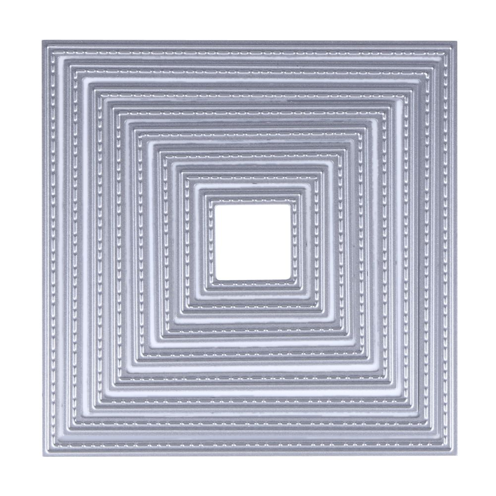 8 in 1 DIY Square Cutting Dies Stencils Embossing Card Scrapbooking ...