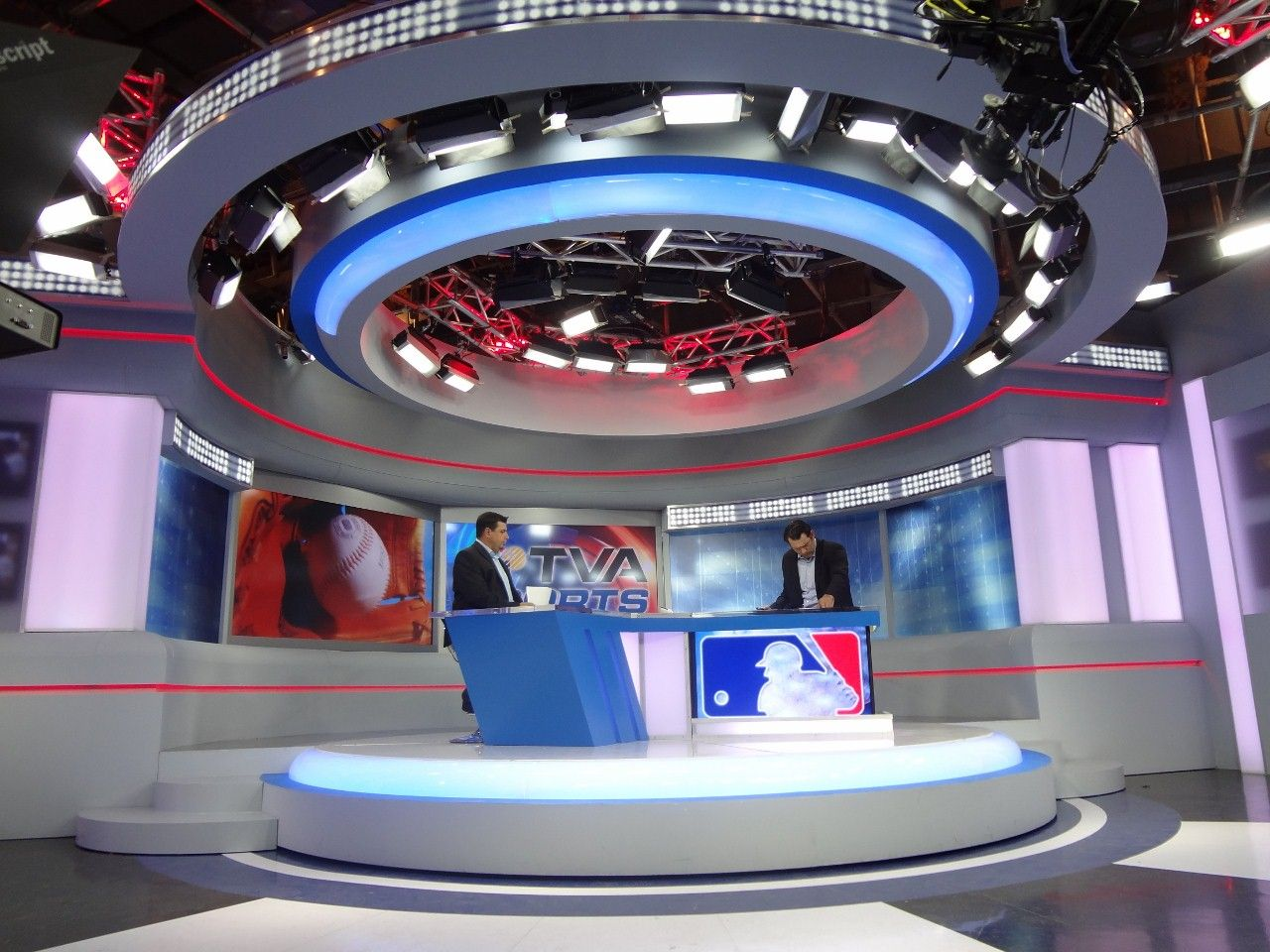 TVA Sports Set Design Gallery Tv set design, Exhibition