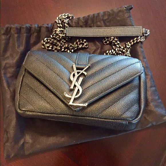 YSL Monogram Baby Chain Crossbody Bag 1a59dbfc8bcdf