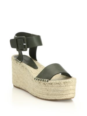 e6446fef886 VINCE Abby Leather Espadrille Platform Wedge Sandals.  vince  shoes  sandals