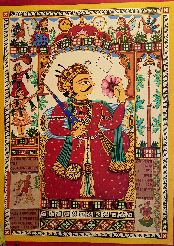 Phad Painting mix media on canvas | Art painting, Phad painting, Rajasthani  art